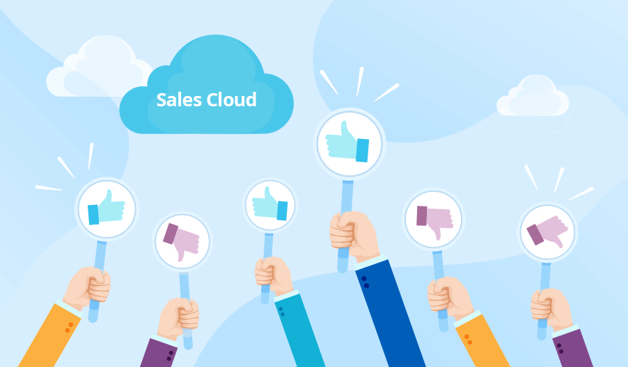 what is the difference between sales cloud and service cloud
